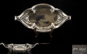 A Silver Reticulated Bowl Of Shaped Form Fully hallmarked London 'D' 1899,
