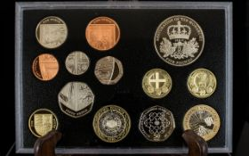 Royal Mint 2010 Standard Proof 13 Coin Set, All Coins Struck to Proof Quaity.