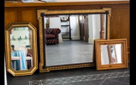 Late 19th / Early 20th Century Neoclassical Framed Mirror Comprising bevelled glass,