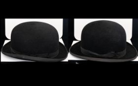 Two Gents Bowler Hats. One Lincoln And Bennett & Co. The Other Hepworth. Both In Good Condition.