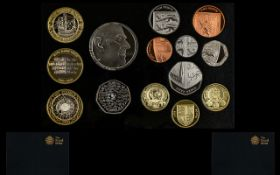 Royal Mint United Kingdom 2011 Standard Proof Struck Coin Set. 14 coins in total.