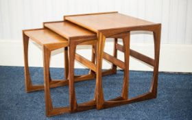 G-Plan 1970's Teak Nest Of Tables Nest of three tables of typical form, 19 inches high,