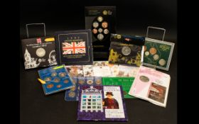 Royal Mint Collection of Coin Sets 13 in Total all still in original packaging, comprising: 1.