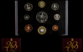 Royal Mint United Kingdom 2002 Proof Struck Coin Collection nine coins in total,
