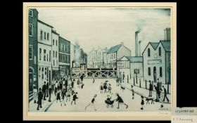Laurence Stephen Lowry (1887-1976) The Level Crossing, Burton On Trent, Artist Signed Polychrome
