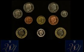 Royal Mint United Kingdom 2004 Proof Struck Coin Collection. 10 coins in total.