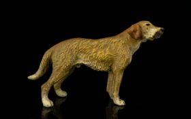 An Austrian Cold-Painted Bronze Dog- Naturalistic And Modelled With Superb Detail.