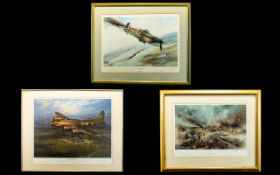 WWII Aeronautic/ Vera Lynn Interest A Collection Of Limited Edition Artist Signed Framed Prints