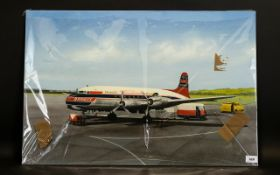 Terry Farrimond A Braniff Turboprop Aeroplane on the tarmac at Dallas International Airport USA