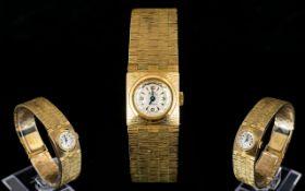 Incabloc Bentina Star 9ct Gold Ladies 1970's Retro Bracelet Watch Mechanical watch in superb