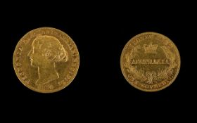 1870 Victorian Full Sovereign Sydney Mint Australia Please see accompanying image for grading