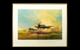 Aeronautic Interest Limited Edition Artist Signed Framed Print 'Typhoon' By Frank Wooton Number