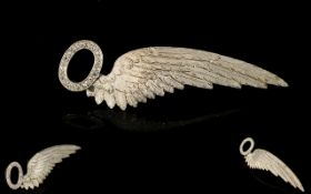 World War I - Period Very Scarce High Ct Gold Royal Air Force Brevet Observers Half Wing Sweetheart