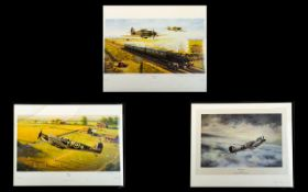 WWII Aeronautic Interest A Collection Of Limited Edition Artist Signed Framed Prints Each framed