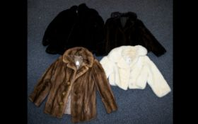 A Collection Of Vintage Mink Evening Jackets Four in total to include blonde mink shawl collar