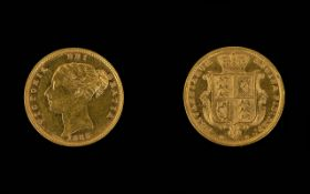 1885 Victorian Shield Back Half Sovereign Please see accompanying image for grading