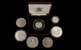 A Small Collection of Royal Mint Silver Proof Coins.