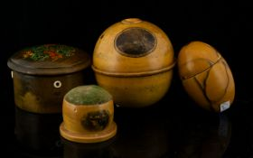 A Collection Of Mauchline Ware Sewing Accoutrements Comprising Late 19th/Early 20th Century spool