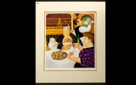 Beryl Cook OBE ( British 1926 - 2008) Limited Edition Artist Signed Print,