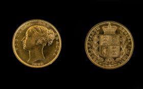 1886 Victorian Shield Back Full Sovereign Sydney Mint
