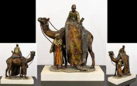 Austrian In The Manner Of Franz Bergman Cold Painted Spelter Novelty Figural Table Lighter.