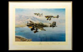 Aeronautic Interest Limited Edition Artist Signed Framed Print 'Stuka' By Robert Taylor No.