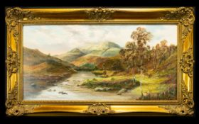 Prudence Turner - English Artist 1930 ' Panoramic View of Loch Eighe ' Scotland. Oil on Canvas.