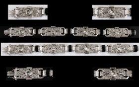 Art Deco Period Superb Quality Platinum Diamond Set Bracelet of stunning appearance.