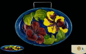 W. Moorcroft Tubelined and Shaped Tray,