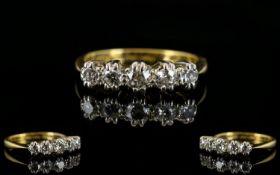 18ct Gold & Platinum 5 Stone Diamond Rin