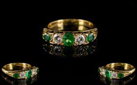 18ct Emerald And Diamond Ring Alternatin
