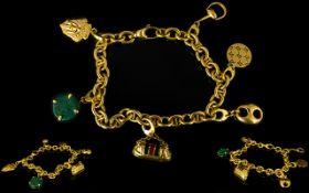 Gucci 18ct Yellow Gold Charm Bracelet Co
