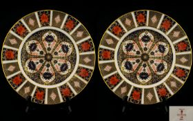 Royal Crown Derby Pair of Old Imari Sing