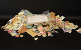 Bag of All World Stamps. Noted Several E