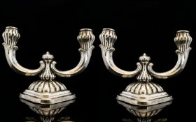 Art Nouveau Period Stylish Pair of Silve