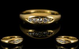 Edwardian Period 18ct Gold Diamond Set D