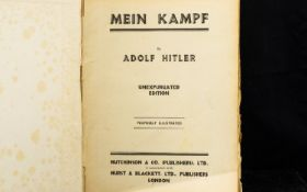 Mein Kampf By Adolf Hitler Unexpurgated