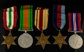 World War II Military Medals (5) Five.