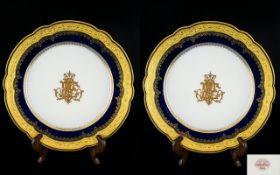 A Fine Pair of Armorial Hand Painted Sha