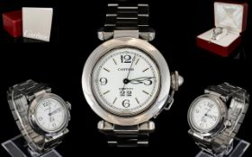 Gents Cartier Pasha Stainless Steel Auto