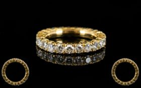 18ct Gold And Diamond Full Eternity Ring