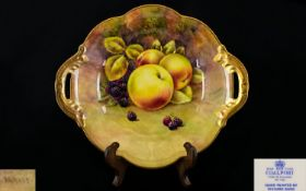 Coalport - Signed and Hand Painted Two H