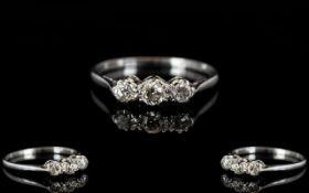 18ct White Gold - Pleasing 3 Stone Diamo