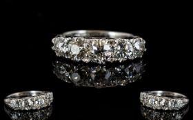 Antique 18ct White Gold Diamond Ring Set