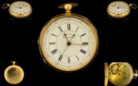 Antique Period 18ct Gold Open Faced Chro