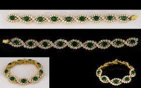 Emerald And Diamond Bracelet, articulate