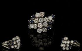 18ct White Gold Attractive Diamond and S