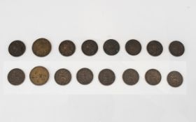 A Good Collection of Queen Victoria Farthing - eight (8) in total. 1. Date 1867, 2. Date 1878 3.