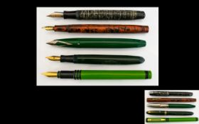 A Collection of Nice Quality Old Fountain Pens ( 5 ) Five In Total.