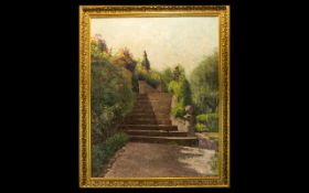 Original Oil On Canvas Unsigned Impasto Oil,